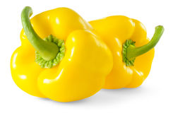 Yellow bell peppers Stock Images