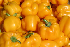 Yellow bell peppers  Stock Image