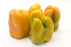 Yellow bell peppers Stock Photo