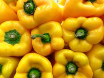 Yellow bell peppers Royalty Free Stock Photos