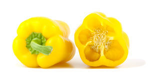 Free Yellow Bell Peppers Isolated On White Background. Stock Photos - 13420313