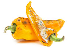 Yellow bell peppers isolated on white Stock Photos
