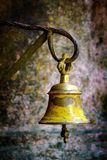 Yellow bell in a temple Stock Image