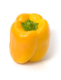 Yellow bellpepper isolated. Single yellow bellpepper isolated on white with shadow Royalty Free Stock Images