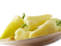 Yellow Bellpeppers Stock Photo