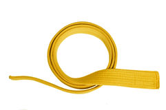 Yellow belt Royalty Free Stock Image