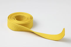 Yellow belt Royalty Free Stock Images
