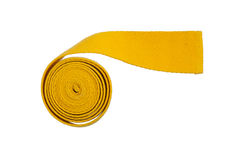Yellow belt isolated Royalty Free Stock Photos