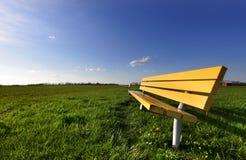Yellow bench Royalty Free Stock Photos