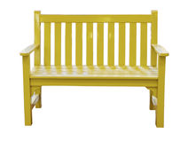 Yellow bench Stock Image