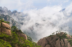 Yellow berg (Huang Shan) royaltyfri fotografi