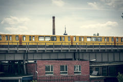 Yellow berlin subway Royalty Free Stock Photos