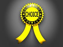 Yellow best choice label on black background Royalty Free Stock Image