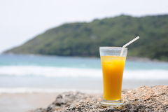 Yellow beverage Royalty Free Stock Photography