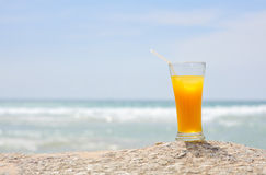 Yellow beverage Stock Images
