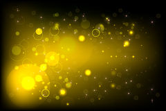 Yellow BG with bokeh Royalty Free Stock Photography