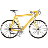 Yellow bicycle. Art illustration of a yellow bicycle Stock Image