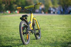 Yellow Bicycle Stock Image