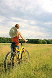 Yellow bicycle Royalty Free Stock Image