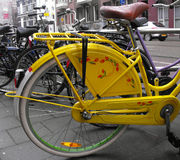 Yellow bicycle. Royalty Free Stock Photo