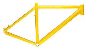 Yellow bicycle frame Stock Images