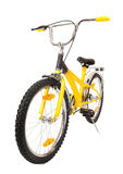 Yellow bicycle isolated Royalty Free Stock Image
