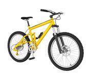 Yellow Bicycle Isolated. On white background. 3D render Royalty Free Stock Photo
