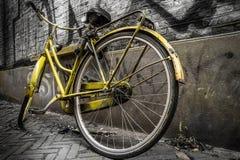 Yellow bicycle Royalty Free Stock Image