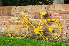Yellow Bicycle Stock Photography