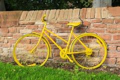 Yellow Bicycle Stock Photography