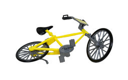 Yellow Bicycle Viewed Up from Below Royalty Free Stock Image