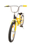 Yellow bicycle on white Royalty Free Stock Images