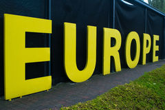 Yellow big letters europe Royalty Free Stock Photo