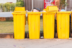 Yellow big plastic bin Royalty Free Stock Photo