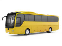 Yellow big tour bus. Stock Photo