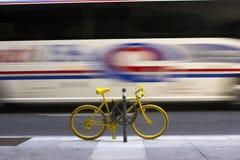 Yellow Bike Stock Photography