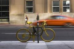 Yellow Bike Stock Images