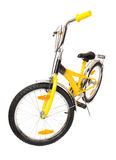 Yellow bike isolated on white Stock Photos