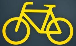 Yellow bike logo Stock Photography