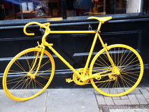 Yellow bike Stock Photo