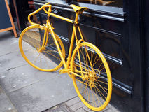 Yellow bike Royalty Free Stock Image