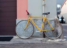 Yellow bike Royalty Free Stock Photography