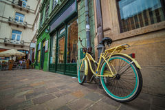 Yellow bike Royalty Free Stock Images