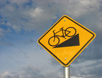 Yellow bike sign Royalty Free Stock Photography