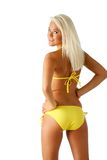 Yellow bikini Royalty Free Stock Photos
