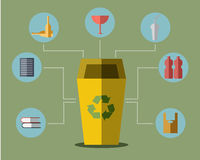 Yellow Bin Concept Vector Stock Photography