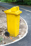 Yellow bin Royalty Free Stock Image