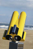 Yellow Binoculars Royalty Free Stock Photo