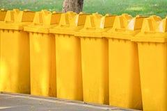 Yellow bins Royalty Free Stock Photo