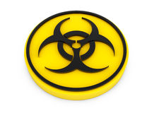 Yellow Biohazard Button Royalty Free Stock Photography